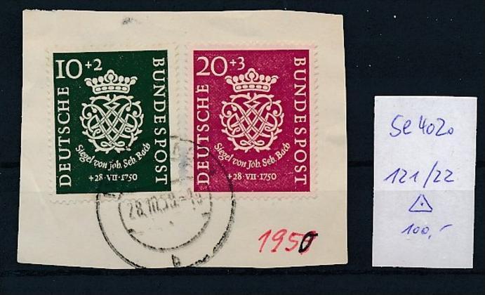 BRD Nr. 121-22  o-Briefstück  ( t4020 ) siehe scan