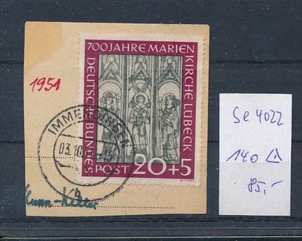 BRD Nr. 140  o-Briefstück  ( t4022 ) siehe scan