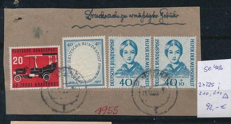 BRD Nr. 2x225.......   o-Briefstück  ( t4016 ) siehe scan