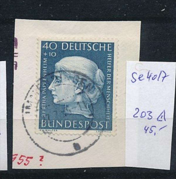 BRD Nr. 203.....   o-Briefstück  ( t4017 ) siehe scan