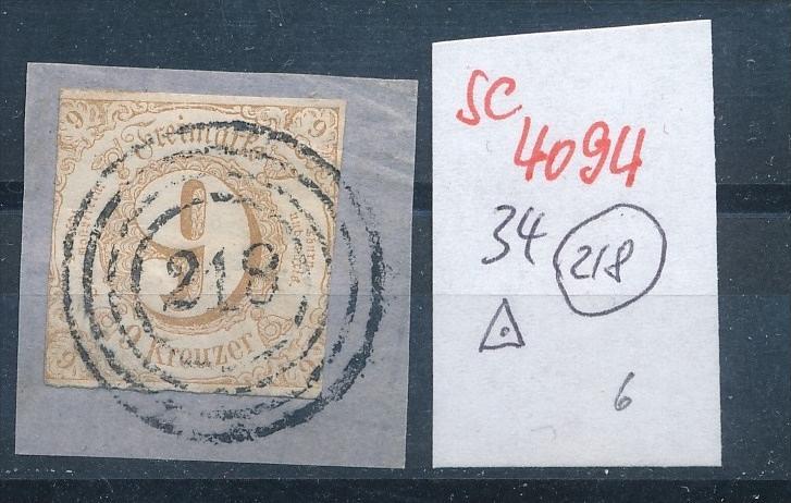 Thurn+Taxis  Nr. 34   o ( se4094 ) siehe scan 0