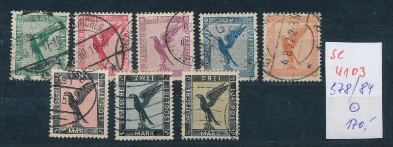 D.Reich  Nr. 378-84   o ( se4103 ) siehe scan 0