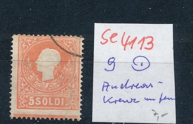 Österreich/Lombardei  -Nr. 9 ..Andreaskreuz Ansatz ( se4113 ) siehe scan 0