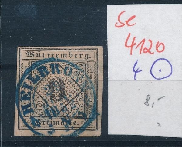 Würtemberg  4-Stempel   ( se4120 ) siehe scan 0
