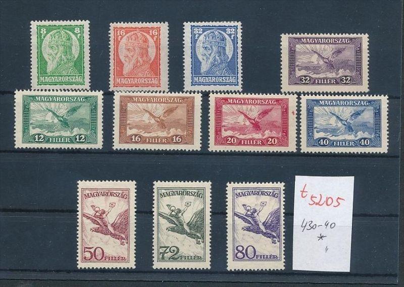 Ungarn Nr. 430-40 *  ....  ( t5205 ) siehe scan 0