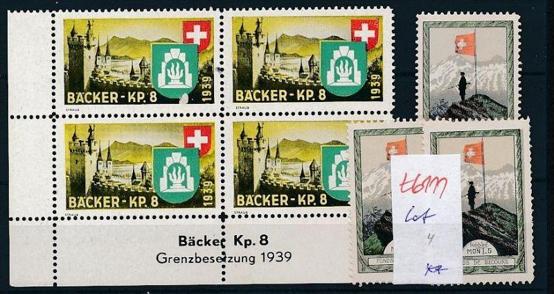 Schweiz Soldaten Marken  Lot     (t6111   ) siehe Bild !