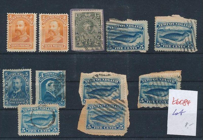 Kanada-Neufundland  alte Marken - Lot     (t6084   ) siehe Bild !