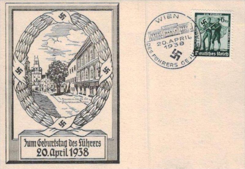 D.-Reich  -Propaganda - Karte -   Stempel-Beleg (ka 647    ) siehe Bild !