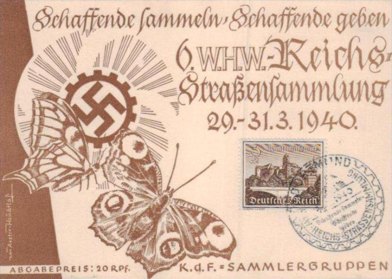 D.-Reich  -Propaganda - Karte -   Stempel-Beleg (ka 609    ) siehe Bild !