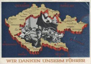 D.-Reich  -Propaganda - Karte -   Stempel-Beleg (ka 603    ) siehe Bild !