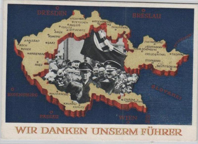 D.-Reich  -Propaganda - Karte -   Stempel-Beleg (ka 653    ) siehe Bild !