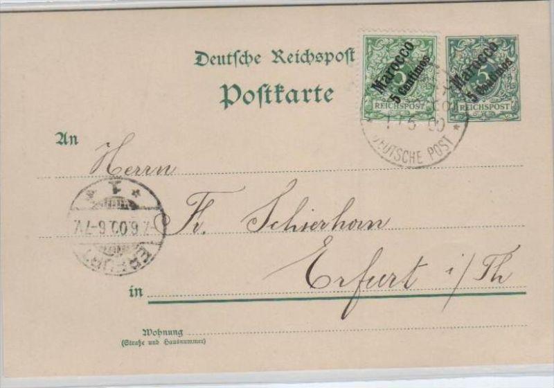 D.-Post  Marokko   -Ganzsache  o (ka 677    ) siehe Bild !