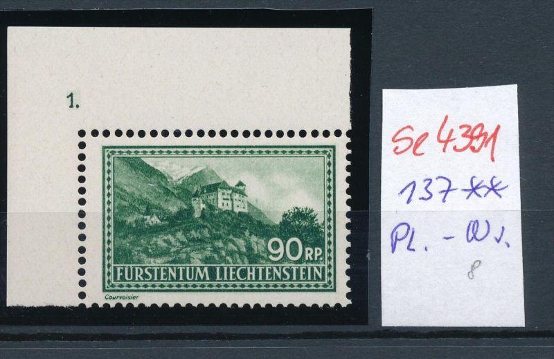 Liechtenstein  Nr. 137 PL-Nr.  ** (se4391 ) siehe Bild !