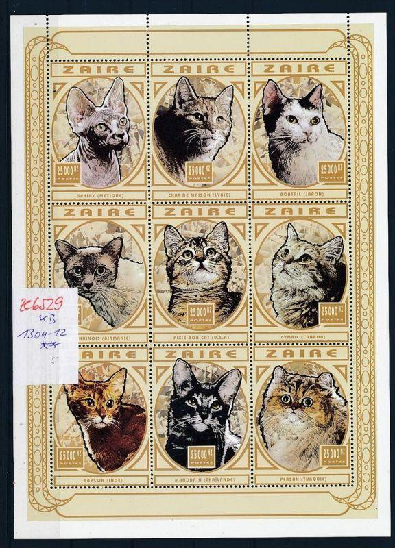 Zaire  KB 1304-12  Katzen  **   (ze6529   ) siehe Bild !