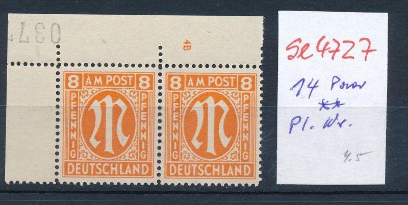 AM -Post Nr. 2x 14 Pl.-Nr.  **      (se4727  ) siehe Bild !