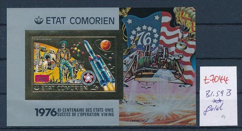 Komoren   Block   59 B  -Gold  ** (t7044  ) siehe Bild !