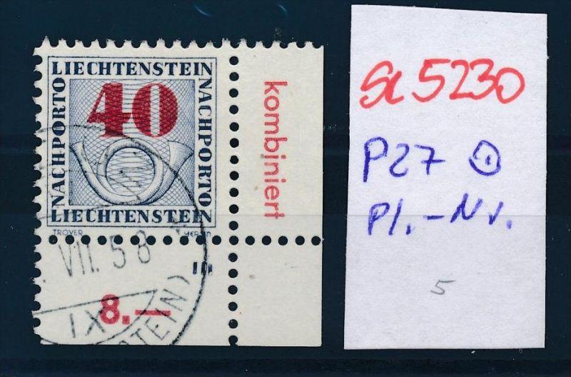 Liechtenstein Nr.  P 27 o Pl.Nr..  ( se5230 ) siehe Bild !