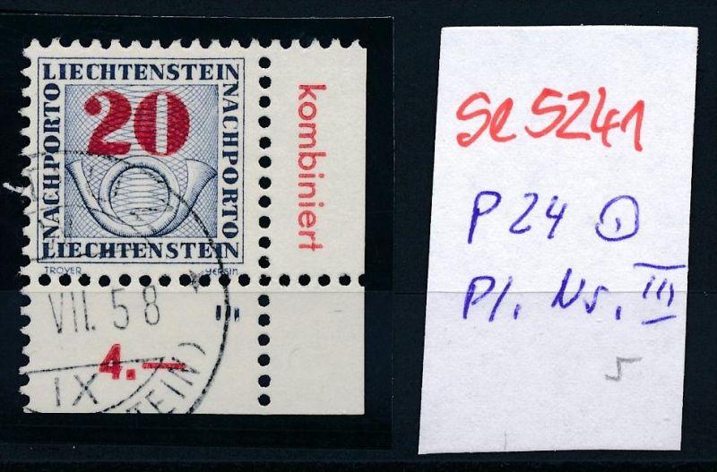 Liechtenstein Nr.  P 24  o Pl.Nr..  ( se5241 ) siehe Bild !