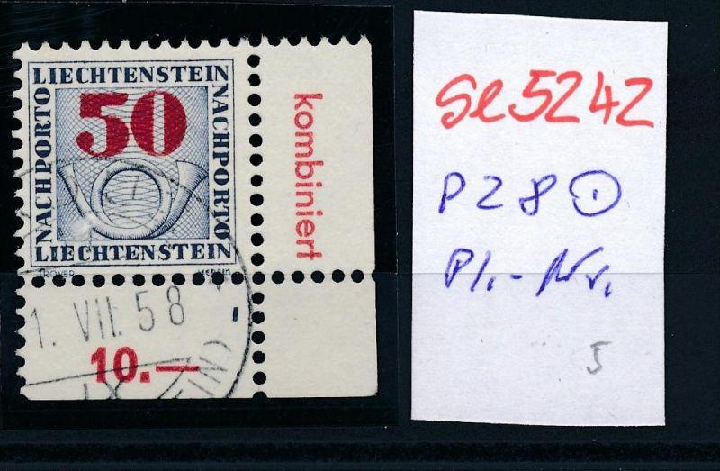 Liechtenstein Nr.  P 28  o Pl.Nr..  ( se5242 ) siehe Bild !