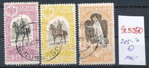 Rumänien Nr. 205-7 o   ( se5350 ) siehe Bild !