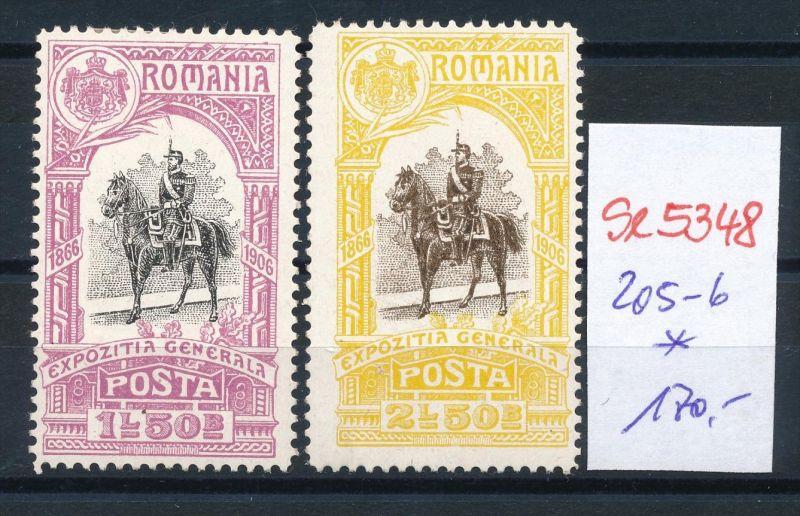 Rumänien Nr. 205-6  *   ( se5348 ) siehe Bild !
