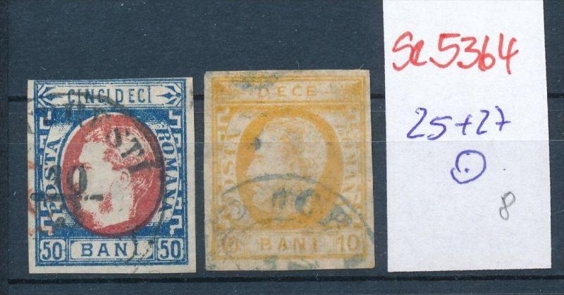 Rumänien Nr. 25+27 o  ( se5364 ) siehe Bild !