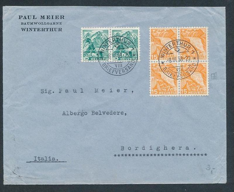Schweiz Firmen Post mit 4er Block..   -netter Beleg....   ( ze5985 )-siehe scan !!