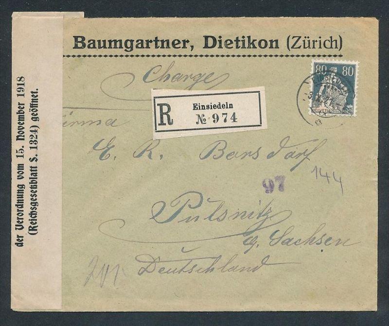 Schweiz R.-Brief Zensur..   -netter Beleg....   ( ze5994 )-siehe scan !!