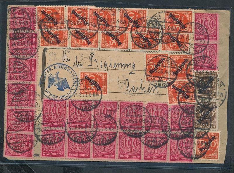 Infla Massen frankatur -netter Beleg....   ( ze6270  )-siehe scan !!