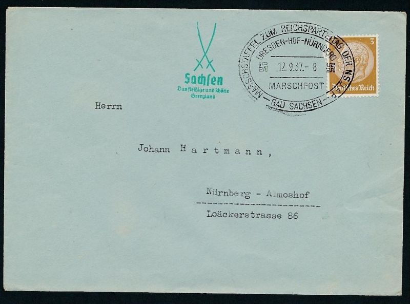 3.Reich  -netter Beleg....   ( ze6276  )-siehe scan !!