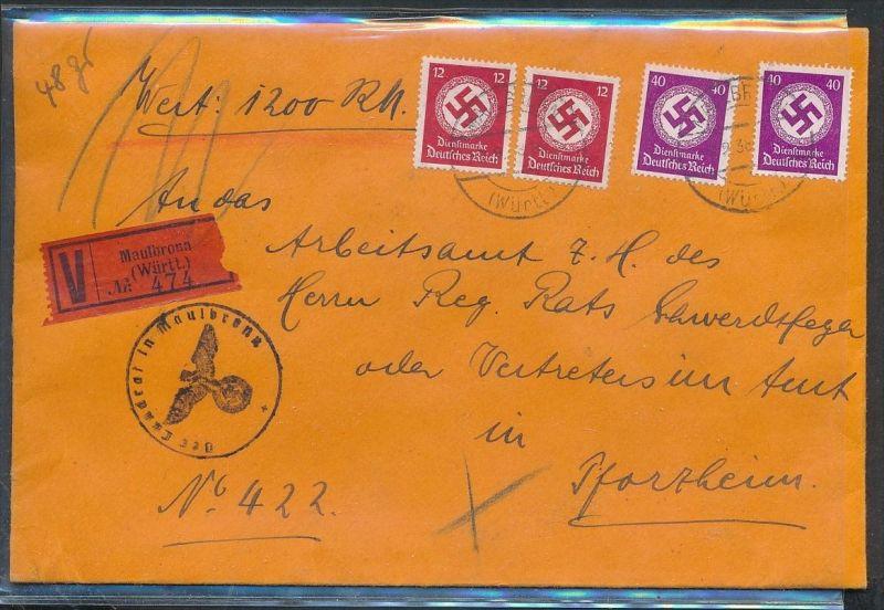Wert-Dienst Brief  -netter Beleg....   ( ze6398  )-siehe scan !!