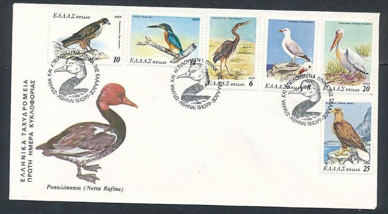 Vögel Griechenland FDC ....-netter Beleg ( ze6484  )-siehe scan !!
