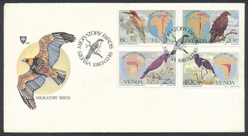 Vögel- Venda FDC ....-netter Beleg ( ze6483  )-siehe scan !!