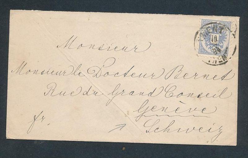 Österreich Ausland Post ...... netter Beleg  ( t5538  )-siehe scan !!