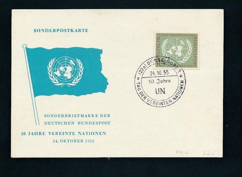 Bund UNO FDC     ..netter Beleg  ....  (t5859 ) siehe Bild !