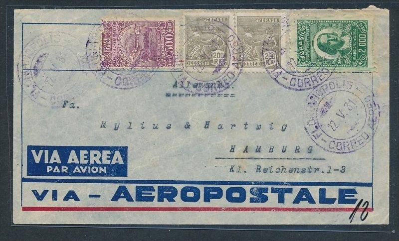 Brasilien  Luftpost -  Brief...netter Beleg  ....  ( t5565  ) siehe Bild !