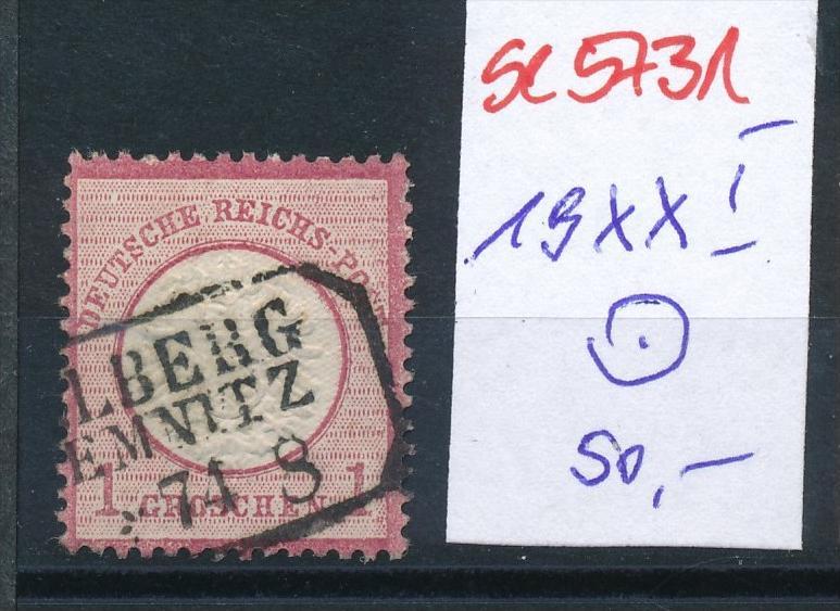 D.-Reich Nr. 19 XXI  o   ( se5731 ) siehe Bild !