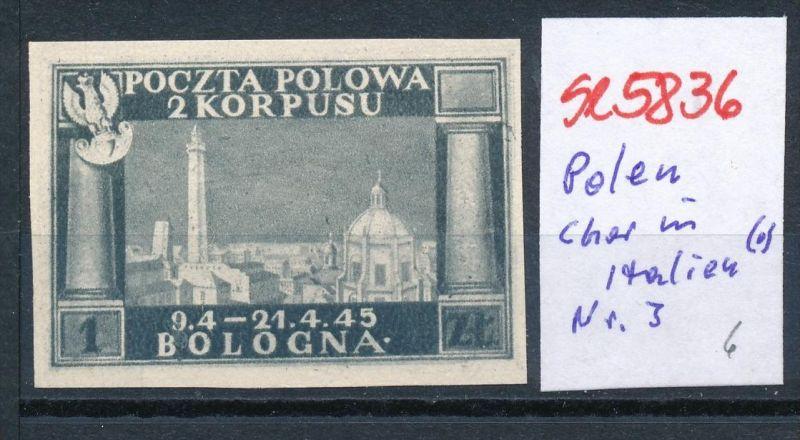 Polen Korbs in Italien  Nr. 3 (*) ( se5836 ) siehe Bild !