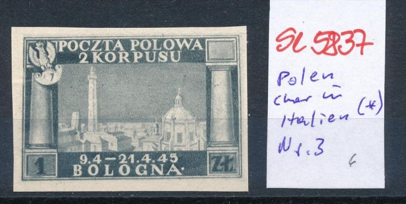 Polen Korbs in Italien  Nr. 3 (*) ( se5837 ) siehe Bild !