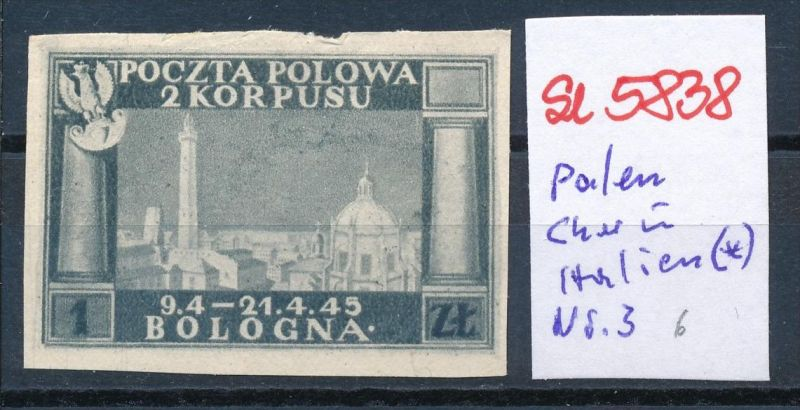 Polen Korbs in Italien  Nr. 3 (*) ( se5838 ) siehe Bild !