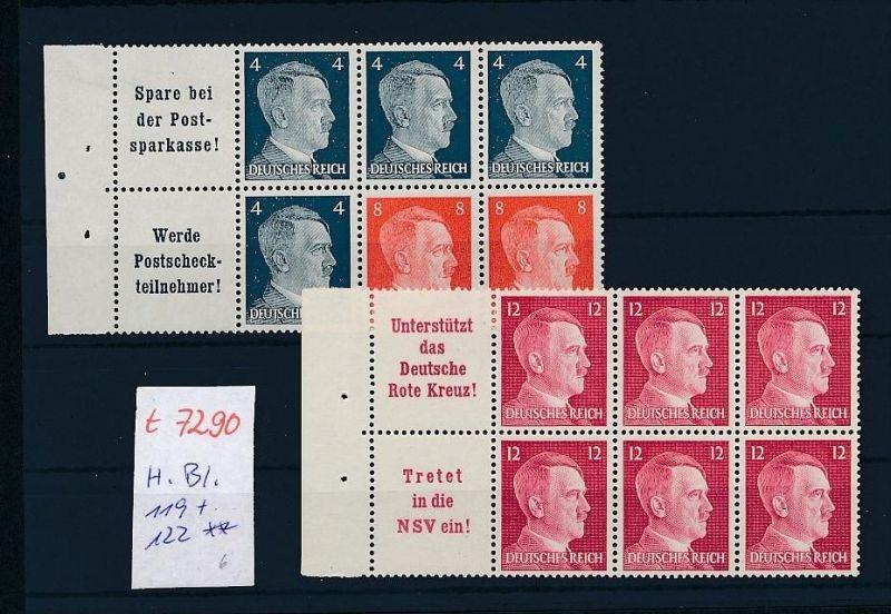 D.-Reich Heftblatt 119+122   **   (t7290 )  siehe Bild