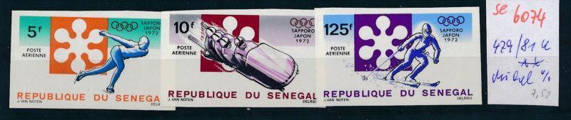 Senegal Nr. 479-81  U      ** (se 6074  )  siehe Bild
