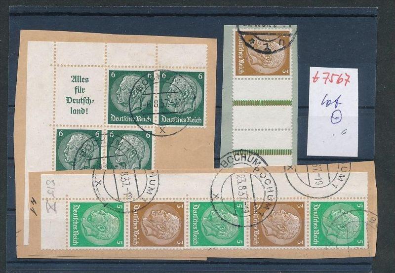 Lot D.-Reich Zusammen Drucke  o   (t7567   )  siehe scan
