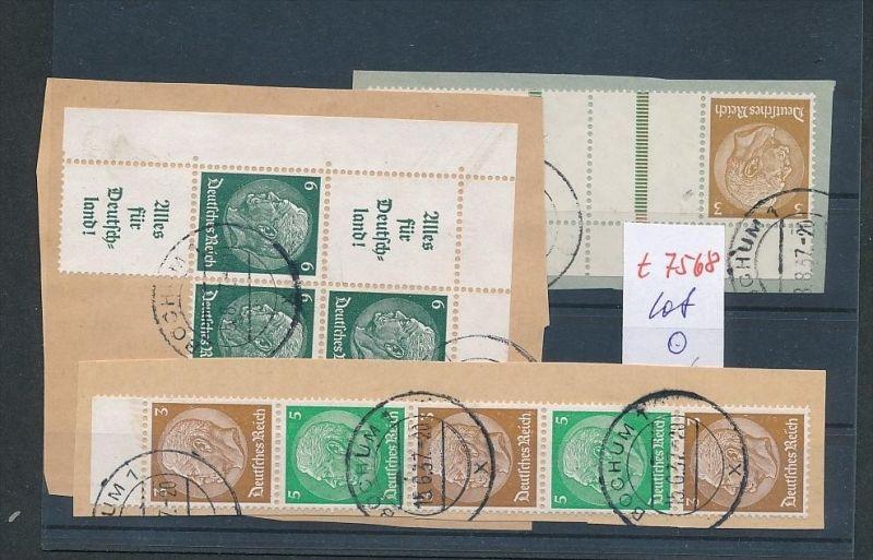 Lot D.-Reich Zusammen Drucke  o   (t7568   )  siehe scan