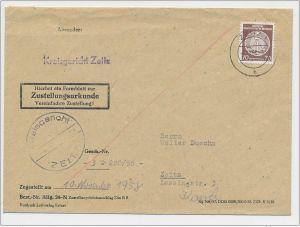 DDR  -Dienst  Post ... Zustell Urkunde (ze400 ) siehe scan