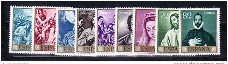Spanien Nr.  1225-34  **  ( e8554 ) siehe scan  !