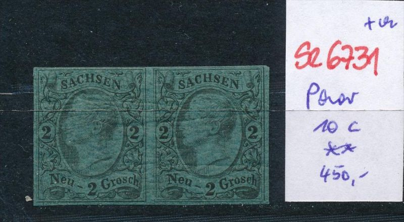 Sachsen Paar  10 c  **  (se6731  ) siehe scan !