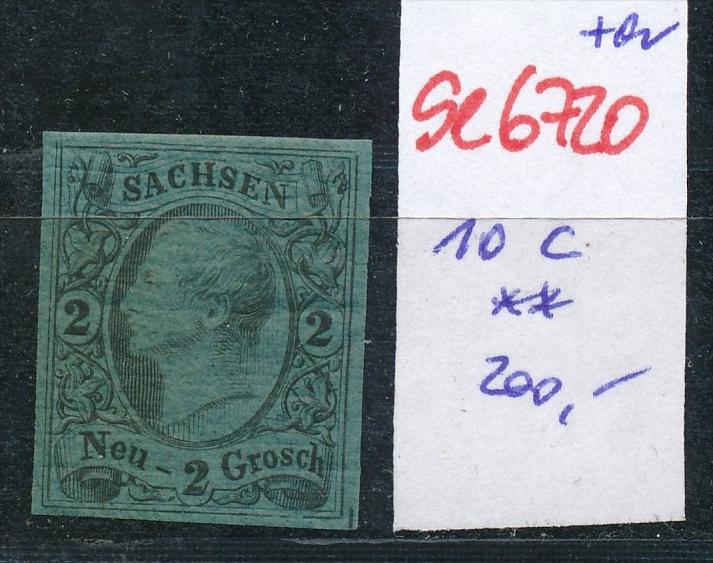 Sachsen Nr.   10 c  **  (se6720  ) siehe scan !