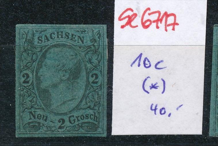 Sachsen Nr.   10 c  (*)-Anhaftungen (se6717  ) siehe scan !