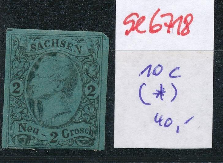 Sachsen Nr.   10 c  (*)-Anhaftungen (se6718  ) siehe scan !